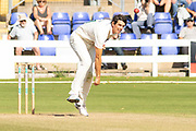 Chris Wright bowling during the Specsavers County Champ Div 2 match between Glamorgan County Cricket Club and Leicestershire County Cricket Club at the SWALEC Stadium, Cardiff, United Kingdom on 18 September 2019.