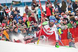 26.01.2020, Streif, Kitzbühel, AUT, FIS Weltcup Ski Alpin, Slalom, Herren, 2. Lauf, im Bild Marco Schwarz (AUT) // Marco Schwarz of Austria in action during his 2nd run in the men's Slalom of FIS Ski Alpine World Cup at the Streif in Kitzbühel, Austria on 2020/01/26. EXPA Pictures © 2020, PhotoCredit: EXPA/ Johann Groder