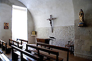 interior of a small church in France