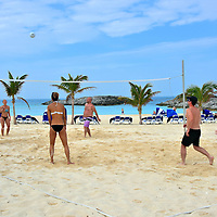 Volleyball Game at Great Stirrup Cay, Bahamas<br /> A court is available for an impromptu game of beach volleyball. Assemble your friends or organize teams among fellow cruisers. You don't have to be skilled. Just be willing to have fun. If one-on-one competition is more your style, then grab a couple of paddles for a spirited contest of ping pong. A basketball court is also available.