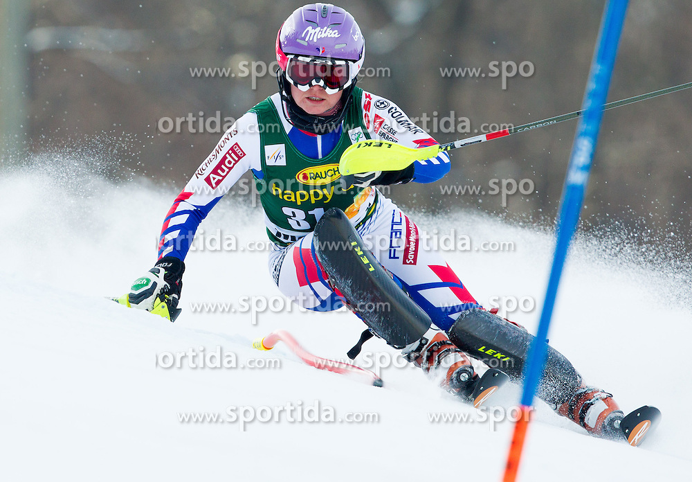 "WORLEY Tessa (FRA) competes during 1st Run of FIS Alpine Ski World Cup 7th Ladies' Slalom race named ""49th Golden Fox 2013"", on January 27, 2013 in Mariborsko Pohorje, Maribor, Slovenia. (Photo By Vid Ponikvar / Sportida.com)"