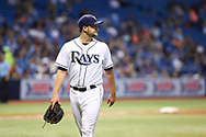 May 9, 2017 - St. Petersburg, Florida, U.S. - WILL VRAGOVIC   |   Times.Tampa Bay Rays starting pitcher Matt Andriese (35) walks off the field after being relieved by relief pitcher Erasmo Ramirez (30) in the sixth inning of the game between the Kansas City Royals and the Tampa Bay Rays at Tropicana Field in St. Petersburg, Fla. on Tuesday, May 9, 2017. (Credit Image: © Will Vragovic/Tampa Bay Times via ZUMA Wire)
