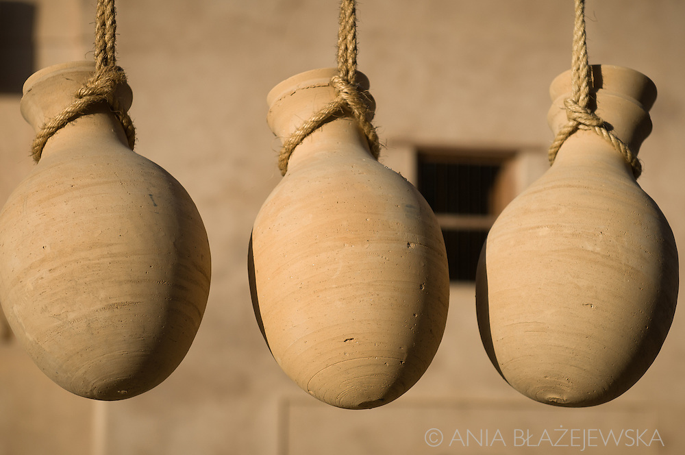 Oman, Nizwa. Traditional jars are usually made in Bahla, but Nizwa is the most popular place where you can find them.