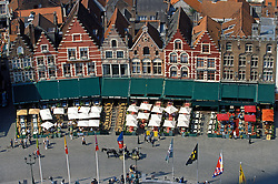"Brugge, Belgium - Overview of city square ""The Markt"" from the Belfry tower. (Photo © Jock Fistick"
