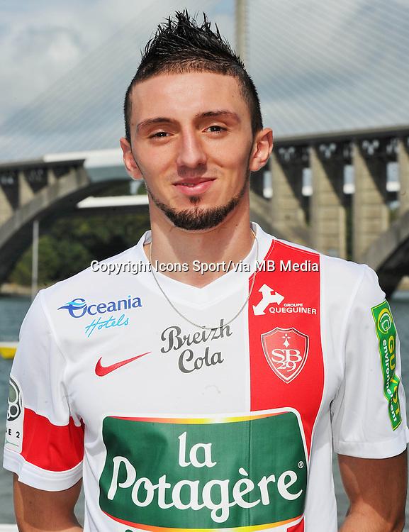 Adel KHALED - 18.09.2013 - Photo Officielle - Brest -<br /> Photo : Patrick Tellier / Icon Sport