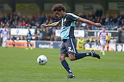 Wycombe Wanderers defender Sido Jombati (2) during the Sky Bet League 2 match between Wycombe Wanderers and Barnet at Adams Park, High Wycombe, England on 16 April 2016. Photo by Dennis Goodwin.
