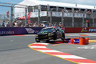 Cameron Waters in the Monster Energy Racing Ford Falcon during Friday practice at The 2018 Vodafone Supercar Gold Coast 600 in Queensland.