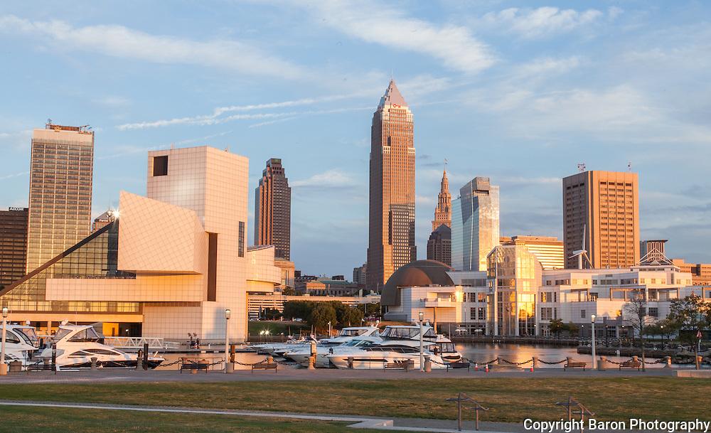 Cleveland skyline from the Inner harbor