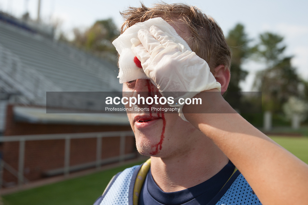 2008 April 24: Andrew Moss of the North Carolina Tar Heels in Charlottesville, VA before playing the Duke Blue Devils