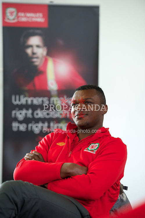 NEWPORT, WALES - Wednesday, May 22, 2013: Marcel Desailly during the Football Association of Wales' UEFA Pro Licence Course 2013 at Dragon Park. (Pic by David Rawcliffe/Propaganda)
