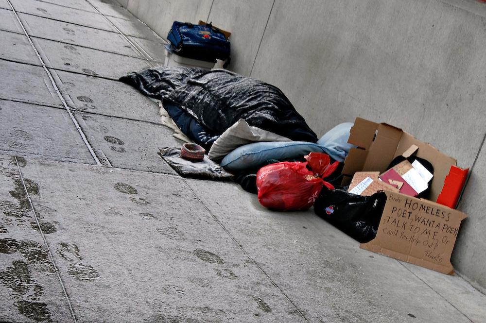 Homeless street poet Crazzy Dave in Ottawa, Ontario. Photo by Daniel Hayduk
