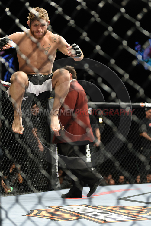 """LAS VEGAS, NEVADA. JULY 11, 2009: Tom Lawlor during """"UFC 100: Making History"""" inside the Mandalay Bay Events Center in Las Vegas, Nevada."""