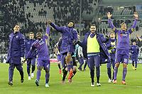 Esultanza finale giocatori Fiorentina,<br /> Torino 05-03-2015, Juventus Stadium, Football Calcio 2014/2015 Coppa Italia, semifinale, Juventus - Fiorentina, Foto Filippo Alfero/Insidefoto