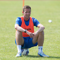 St Johnstone's Steven MacLean pictured in training...08.07.13<br /> Picture by Graeme Hart.<br /> Copyright Perthshire Picture Agency<br /> Tel: 01738 623350  Mobile: 07990 594431