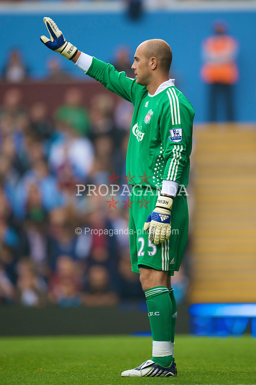 BIRMINGHAM, ENGLAND - Sunday, August 31, 2008: Liverpool's goalkeeper Pepe Reina in action against Aston Villa during the Premiership match at Villa Park. (Photo by David Rawcliffe/Propaganda)