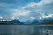 Paddle Boarder on Lake McDonald, Glacier National Park | August 2014
