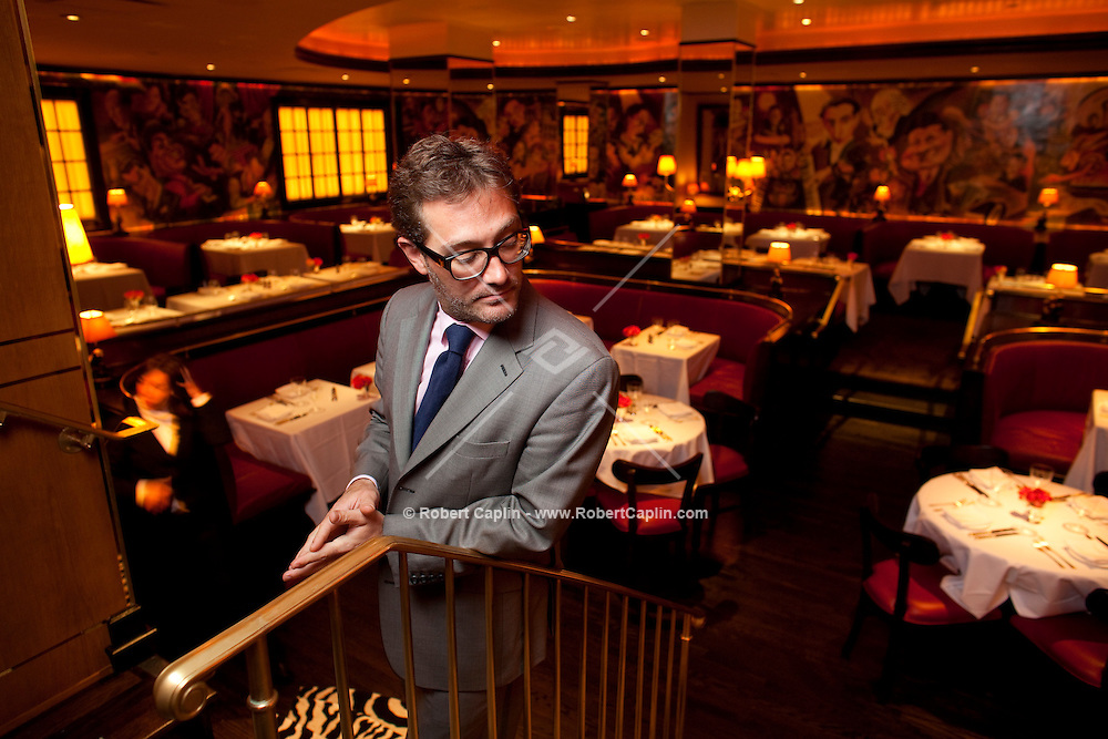 Maitre'd Sebastian Fogg and his wife, Laura Montana, manager of the Monkey Bar in New York, NY on Wednesday, June 24, 2009.