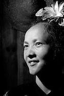 Kaili, Guizhou, China, August 10th 2007: Portrait of a 30 year old Miao woman..Photo: Joseph Feil