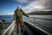 King Harald V of Norway on a trip to Kachemak Bay to see the impact of climate change in the area. An active hunter and fisherman, the king has long had and interest in environmental issues, and has repeatedly urged action to combat man made climate change.
