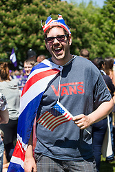 Justin Richards of Arizona - Excitement builds on the Long Walk on the procession route ahead of the royal wedding. Windsor, May 19 2018.