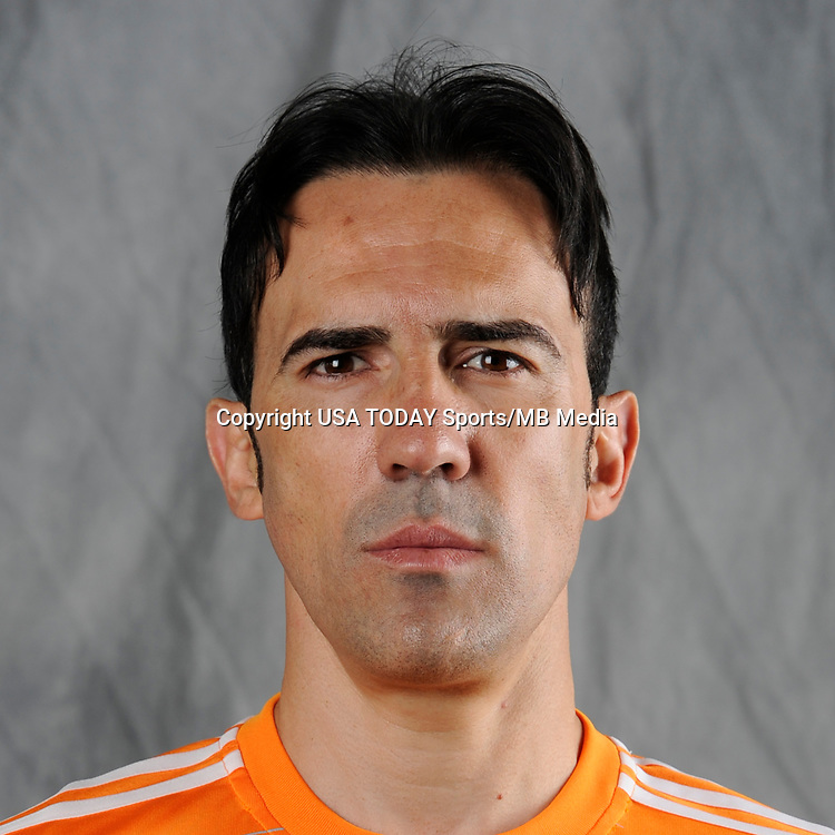 Feb 25, 2017; USA; Houston Dynamo player Vicente Sanchez poses for a photo. Mandatory Credit: USA TODAY Sports