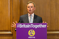 © Licensed to London News Pictures.24/04/2017.London, UK. UKIP Deputy Leader Peter Whittle makes a part policy announcement at the Marriott County Hall in Westminster, London. Paul Nuttall recently announced plans to ban the burkha in the UKIP 2017 general election manifesto.Photo credit: Ray Tang/LNP