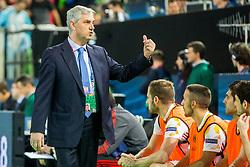 Jose Venancio Lopez, head coach of Spain during futsal match between Ukraine and Spain in Quaterfinals of UEFA Futsal EURO 2018, on February 6, 2018 in Arena Stozice, Ljubljana, Slovenia. Photo by Ziga Zupan / Sportida