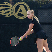 21 January 2017: The  San Diego State Aztecs women's tennis team hosts UCSD Saturday afternoon at the Aztec Tennis Center.