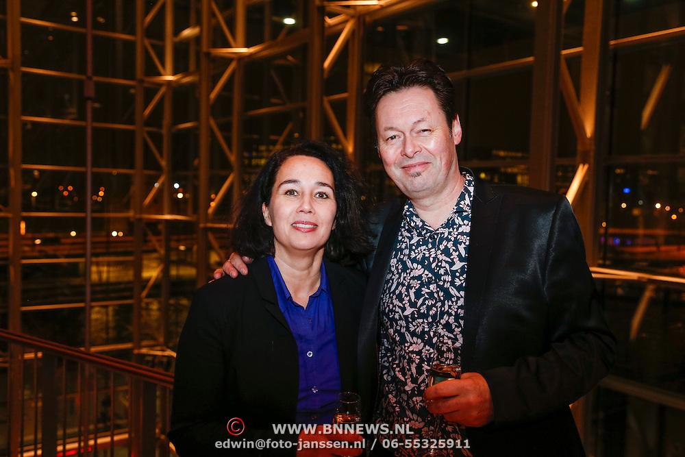 NLD/Amsterdam/20130121 - CD presentatie Geloof, Hoop en Liefde van LA the Voices, Carel Kraayenhof en partner Thirza Lourens