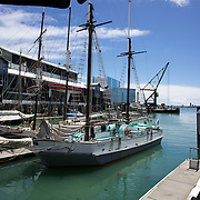 Historic Scow at the NZ Maritime Museum