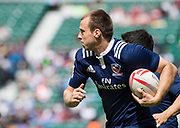 Twickenham, Surrey United Kingdom. USA's Ben PINKELMAN, during the Pool A match at the <br /> &quot;2017 HSBC London Rugby Sevens&quot;,  Saturday 20/05/2017 RFU. Twickenham Stadium, England    <br /> <br /> [Mandatory Credit Peter SPURRIER/Intersport Images]
