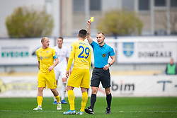 Referee Alen Borosak and Arnel Jakupovic of Domzale during football match between NK Domzale and NK Triglav in Round #18 of Prva liga Telekom Slovenije 2019/20, on November 23, 2019 in Sports park Domzale, Slovenia. Photo by Sinisa Kanizaj / Sportida