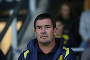 Burton Albion manager Nigel Clough during the second round or the Carabao EFL Cup match between Burton Albion and Aston Villa at the Pirelli Stadium, Burton upon Trent, England on 28 August 2018.