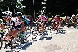 Race leader, Lucinda Brand (NED) at Giro Rosa 2018 - Stage 3, a 132 km road race starting and finishing in Corbetta, Italy on July 8, 2018. Photo by Sean Robinson/velofocus.com