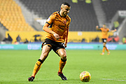 Wolverhampton Wanderers midfielder Romain Saiss (27) 2-0 during the EFL Sky Bet Championship match between Wolverhampton Wanderers and Fulham at Molineux, Wolverhampton, England on 3 November 2017. Photo by Alan Franklin.