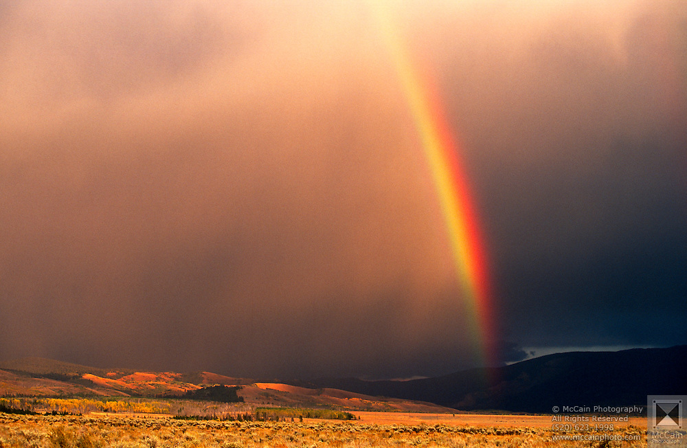 Rainbow after storm, Grand Teton National Park, near Moose, Wyoming..Subject photograph(s) are copyright Edward McCain. All rights are reserved except those specifically granted by Edward McCain in writing prior to publication...McCain Photography.211 S 4th Avenue.Tucson, AZ 85701-2103.(520) 623-1998.mobile: (520) 990-0999.fax: (520) 623-1190.http://www.mccainphoto.com.edward@mccainphoto.com