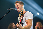 "Photos of the Icelandic band Kaleo performing live on the ""Kaleo Express Tour - Fall 2017"" at Hammerstein Ballroom, NYC on October 21, 2017. © Matthew Eisman. All Rights Reserved"
