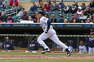 Justin Morneau #33 of the Minnesota Twins bats against the Miami Marlins in Game 1 of a split doubleheader on April 23, 2013 at Target Field in Minneapolis, Minnesota.  The Twins defeated the Marlins 4 to 3.  Photo: Ben Krause