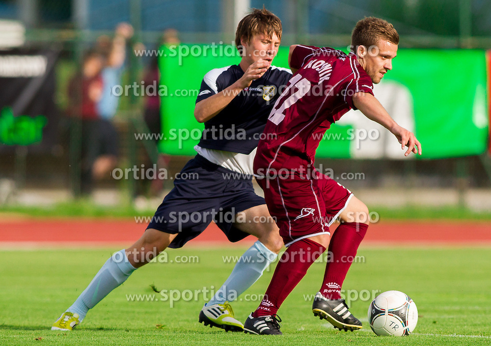 Niko Snoj of Triglav during Friendly football match between NK Triglav and HNK Rijeka on June 25, 2013 in Sports park Kranj, Slovenia. (Photo by Vid Ponikvar / Sportida.com)