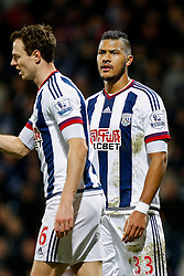 Jose Salomon Rondon of West Bromwich Albion looks on - Mandatory byline: Rogan Thomson/JMP - 02/02/2016 - FOOTBALL - The Hawthornes - West Bromwich, England - West Bromwich Albion v Swansea City - Barclays Premier League.