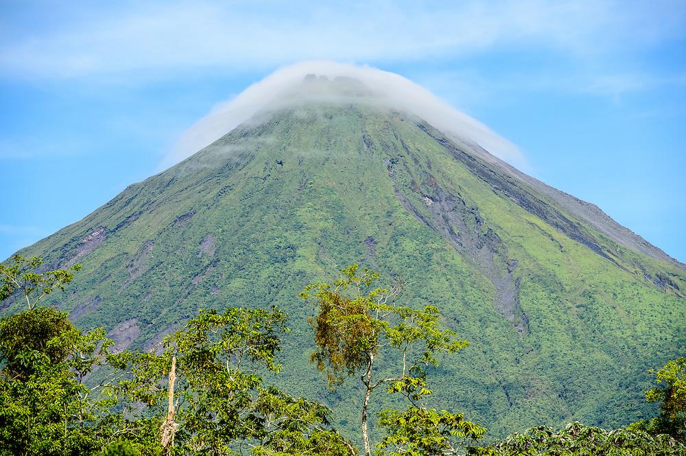 Volcan Arenal, Arenal Volcano, morning near La Fortuna, Costa Rica