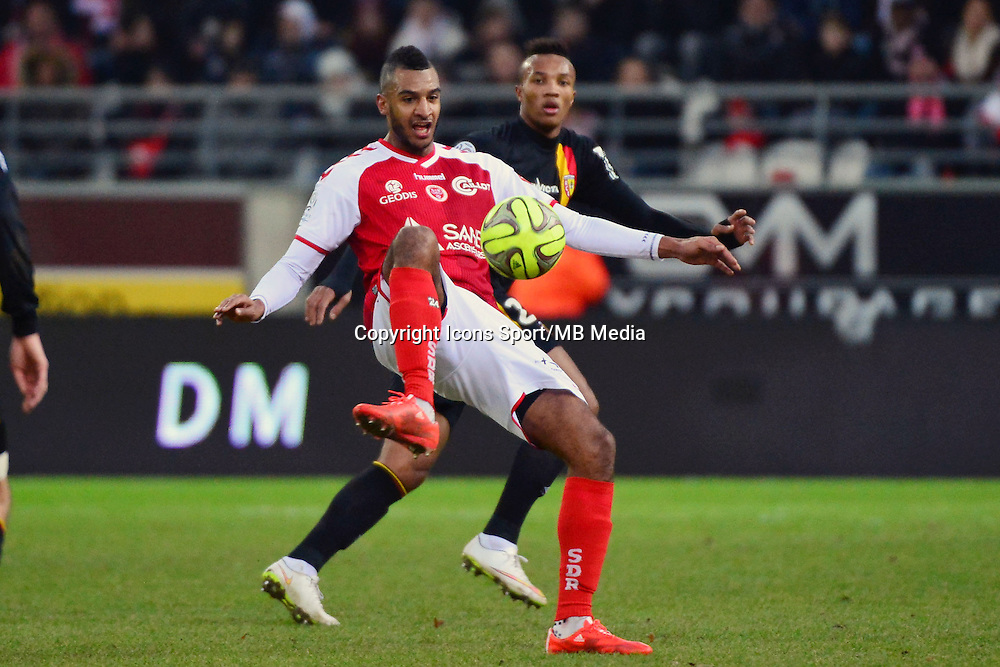 David NGOG  - 25.01.2015 - Reims / Lens  - 22eme journee de Ligue1<br />Photo : Dave Winter / Icon Sport