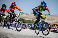11 Boys #4 (APELS Kristers) LAT at the 2018 UCI BMX World Championships in Baku, Azerbaijan.