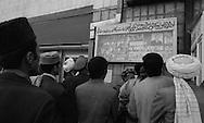 after the coup d etat of the communist party against daoud; / ad showing the new leaders  Kabul  Afghanistan   / apres le coup d etat du parti communiste contre Daoud / affiches montrant les nouveaux dirigeants  Kaboul  Afghanistan  / AFG24292 4C