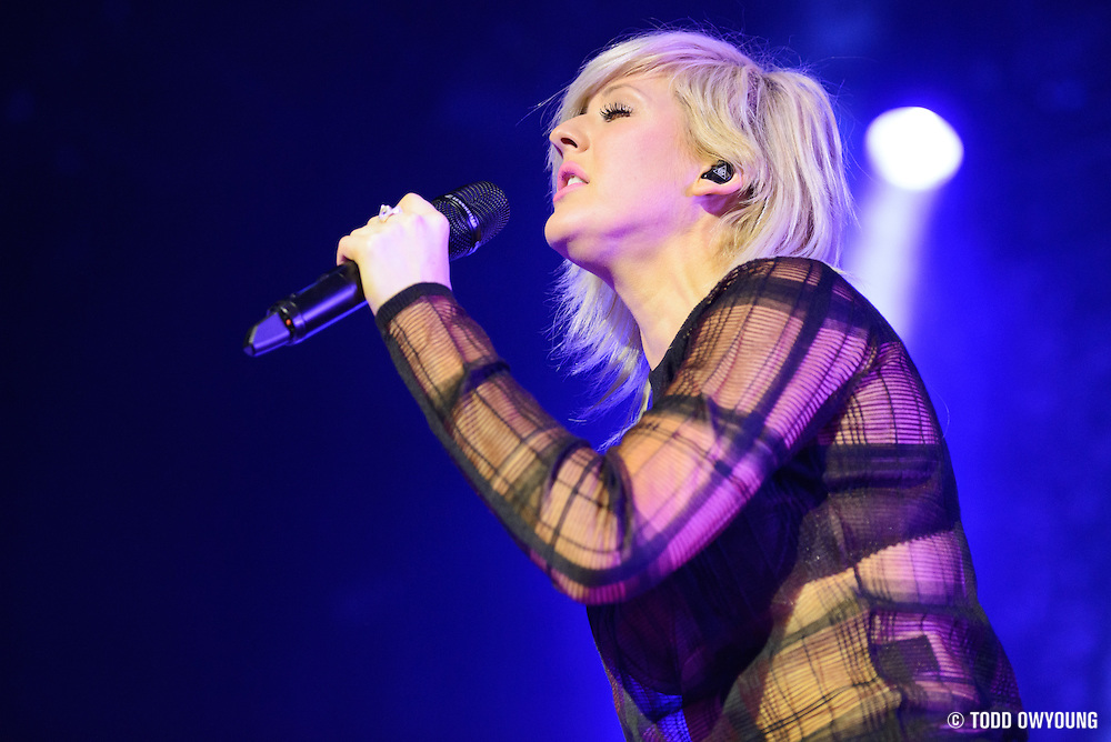 British singer Ellie Goulding performing at the Pageant in St. Louis on January 30, 2013.