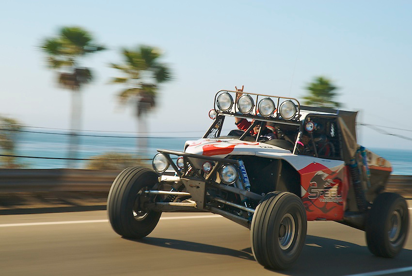Speed Technologies Class 1 car on a test drive near Ensenada, Mexico during the 2007 Baja 1000.