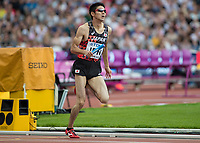 Athletics - 2017 IAAF London World Athletics Championships - Day Nine, Morning Session<br /> <br /> Mens 4 x 400 Relay - Round 1<br /> <br /> Kazushi Kimura (Japan) at the London Stadium<br /> <br /> COLORSPORT/DANIEL BEARHAM