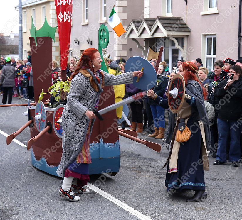 16/3/14 There were Vikings fighting on the streets of  Doonbeg on St Patrick's day. Pic Tony Grehan / Press 22