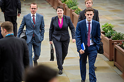 © Licensed to London News Pictures. 01/10/2017. Manchester, UK. Scottish conservative leader RUTH DAVIDSON (centre) seen arriving for the opening day of the Conservative Party Conference. There have been conflicts within the conservative party and government over the UK's approach to Brexit, which is expected to feature heavily at this years event. Photo credit: Ben Cawthra/LNP