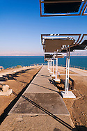 The public beach at Ein Gedi on the western Dead Sea coast. WATERMARKS WILL NOT APPEAR ON PRINTS OR LICENSED IMAGES.